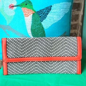 The Limited Women Pattern Black and White Clutch